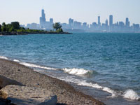 View from south end of lakefront trail